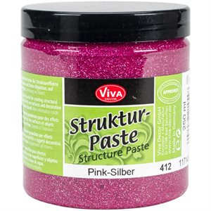 Viva Decor Structure Paste 8.45oz Pink Silver