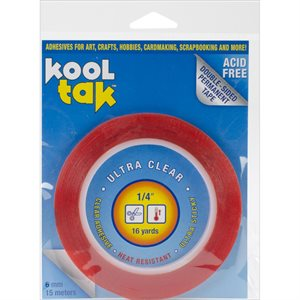 """Kool Tak Ultra Clear Tape .25""""X16yd"""