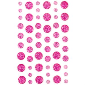 Eyelet Outlet Adhesive-Back Enamel Dots 54 / Pkg Hot Pink